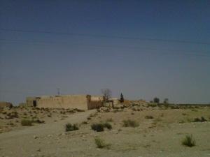 Views driving in the desert. Wide open skies.