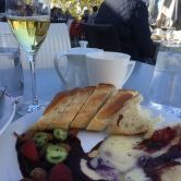 Baked brie was fabulous
